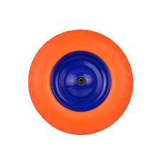 Käruratas 4,00-8 täis PU oranž