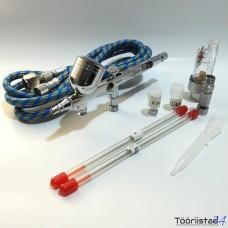 Airbrush TG203K 0.2-0.3-0.5mm+voolik ja vee-eraldaja