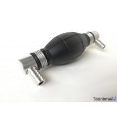 Käsipump voolikule 10mm, nurgaga (kütus, õli,vesi)