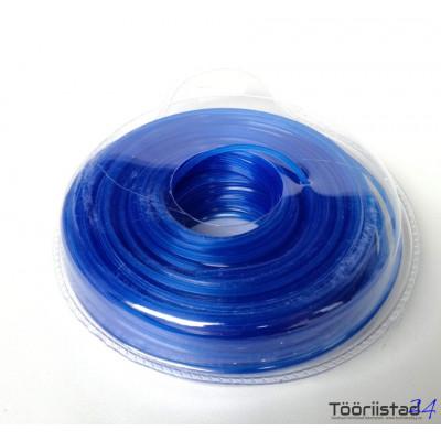 Sinine, kuusnurkne, nailon jõhv trimmerile 2,4mm*50m