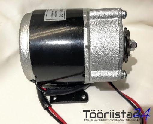 Elektrimootor reduktoriga 24V 350W 2800 rpm 9,27