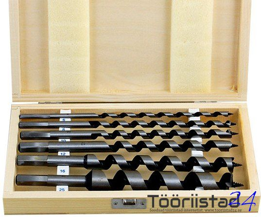 Puidupuuride komplekt 6 osa, pikkus 230mm