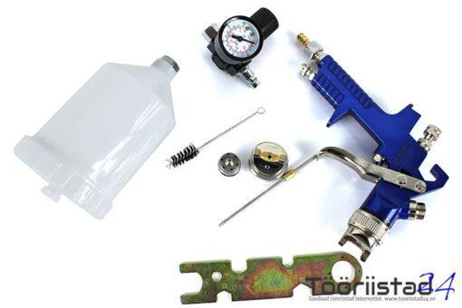 Värvipüstol düüsid 1,4 ja 1,5 + regulaator manomeetriga 8273