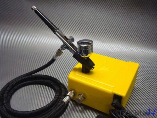 Aerograafi komplekt, kompressoriga, Airbrush
