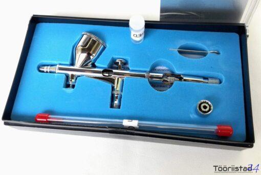 Airbrush kahesüsteemse päästikuga TG-180. Düüsid 0.25 ja 0.3