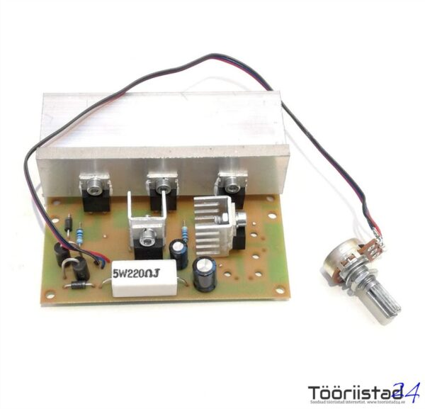 Elektrimootori pöörete regulaator 12-24V DC max 22A