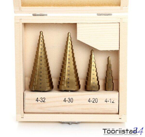Koonuspuurid 4 osa kuni 32mm