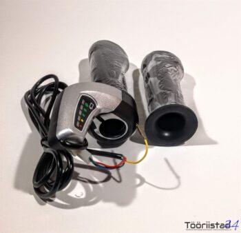 Elektrijalgratta kiiruse regulaator-gaas, indikaatoriga 24v
