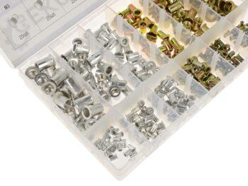 Neetmutrite komplekt alumiinium ja teras M3-M10 300 osa