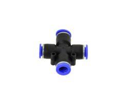 Pneumo torude kiirühendus - rist - 8mm