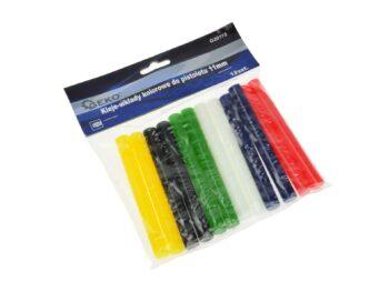 Värvilised liimipulgad 11 mm püstolile - 12 tk