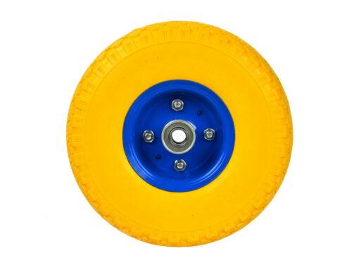 Käru ratas 3.00-4 PU / täis, kollane