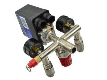Kompressori survelüliti, kahe manomeetriga. 230v Max 12bar