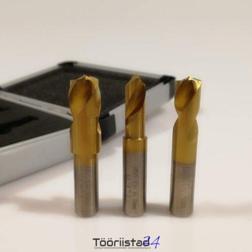 Puuride komplekt punktkeevituse avamiseks. 6.5-10mm