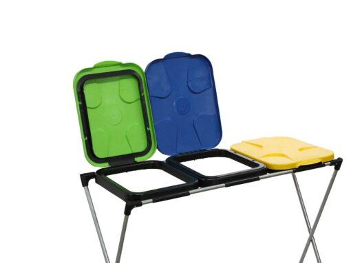 Prügikotiraam kolmele kotile. Prügi sorteerimiseks-G71260-4